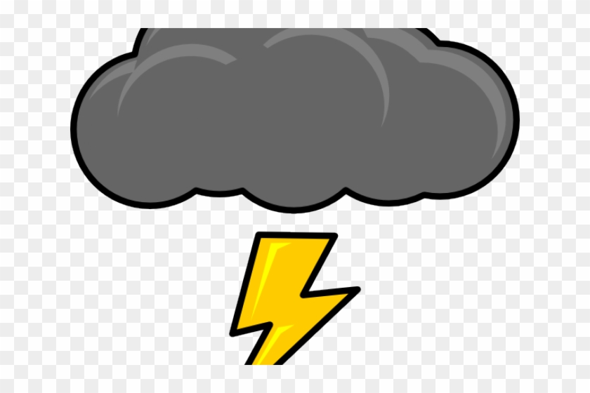 Thunder And Lightning Clipart - Thunder Cloud Png - Free Transparent