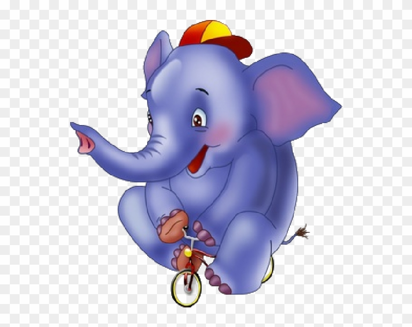 Purple Elephant Clip Art At Clker - Cute Circus Animals Png #1135548