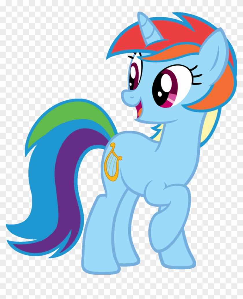 Blah23z, Edit, Lyra Heartstrings, Palette Swap, Rainbow - Lyra And Rarity #1135993