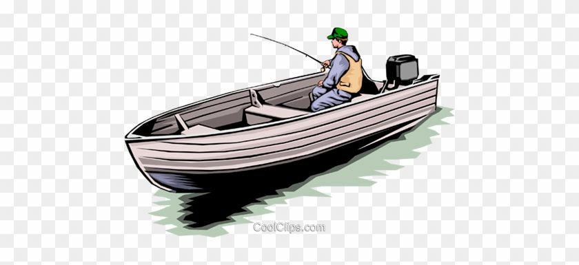 Fisherman In Boat Royalty Free Vector Clip Art Illustration Fishing Boat Free Transparent Png Clipart Images Download