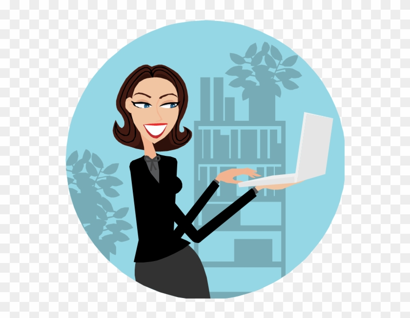 6 Business Leaders Talk How To Excel In Business As Women On Computer Cartoon Free Transparent Png Clipart Images Download
