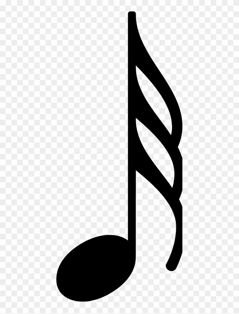 Musical Note Eighth Note Clip Art Single Music Notes Vector Free