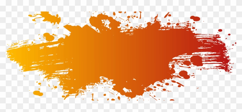 Orange Color Splash Png #1137014