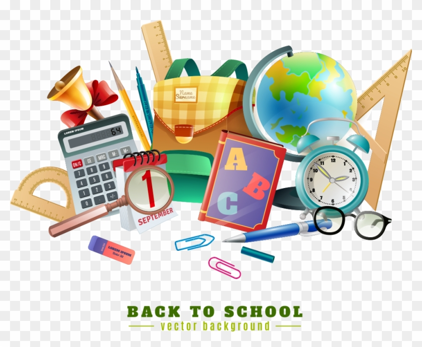 Poster Stationery Illustration - Back To School Vector Png #1137053