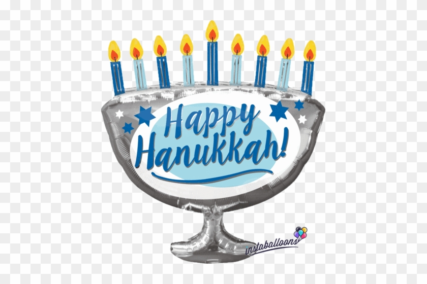 """Happy Hanukkah Menorah Large 29"""" Balloon - Hanukkah Menorah #1137589"""