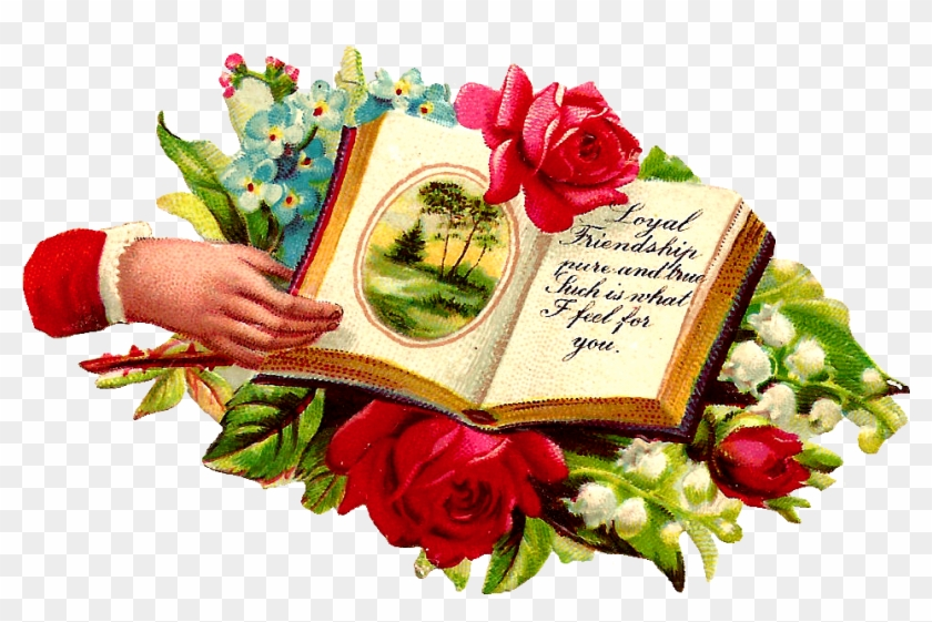 These Are Wonderful Digital Graphics I Created From - Png Open Book And Flower #1137914