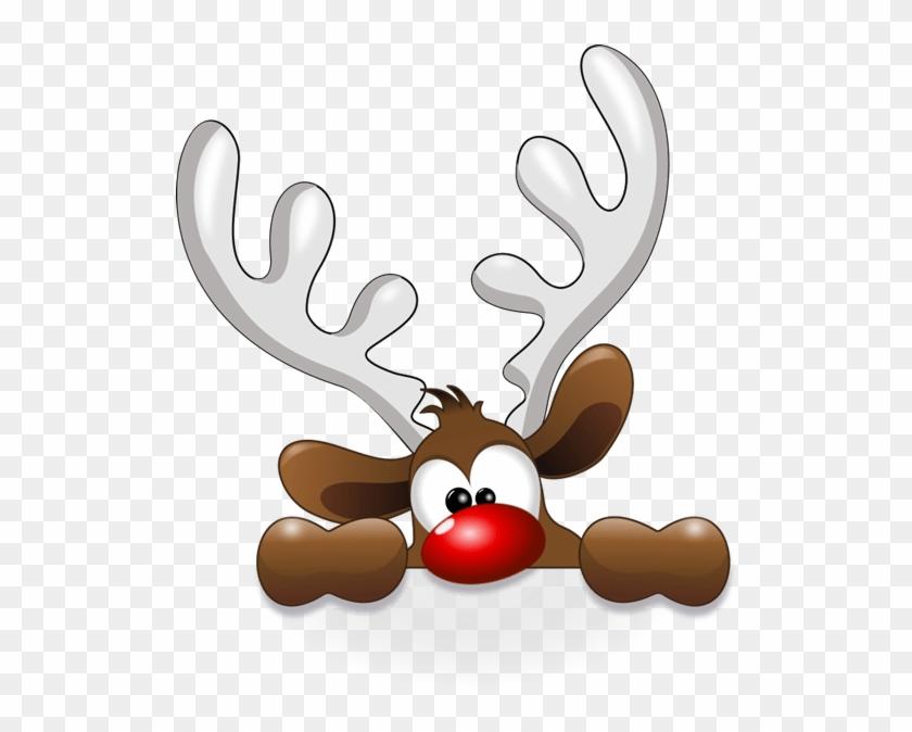 Cute Reindeer Christmas Clipart - Funny Reindeer Throw ...