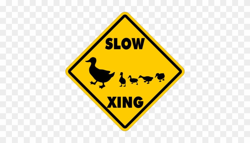 Duck Crossing~funny Novelty Xing Gift Sign - Student Working Clip Art #1140275