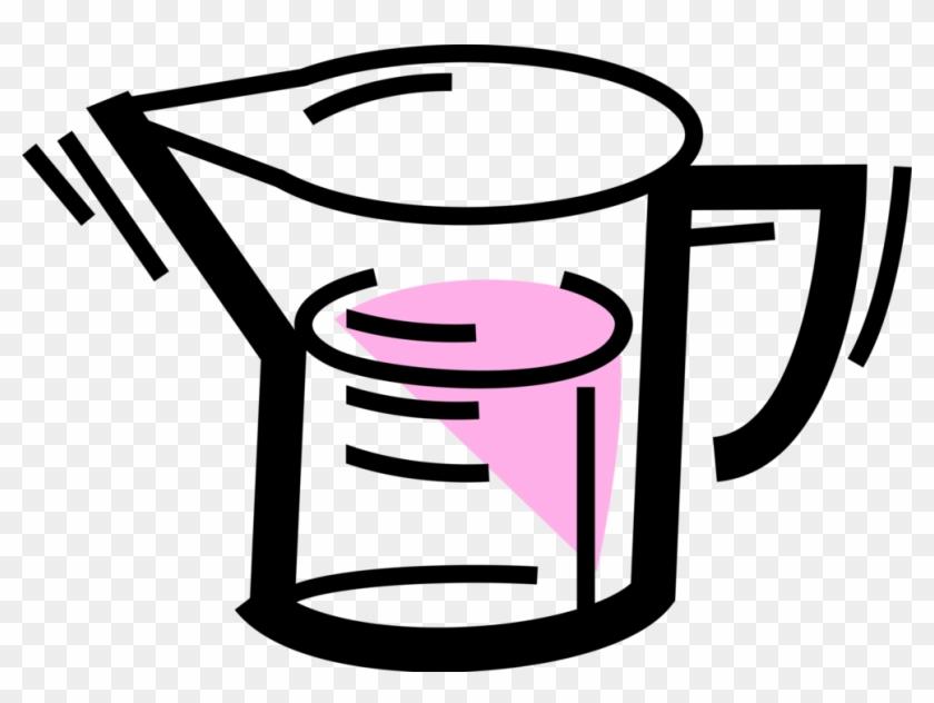 Vector Illustration Of Kitchen Utensil Measuring Cup Vector