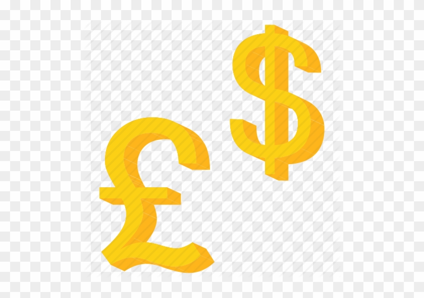 Foreign Dollar Signs Word Risk On Foreign Exchange Pound And
