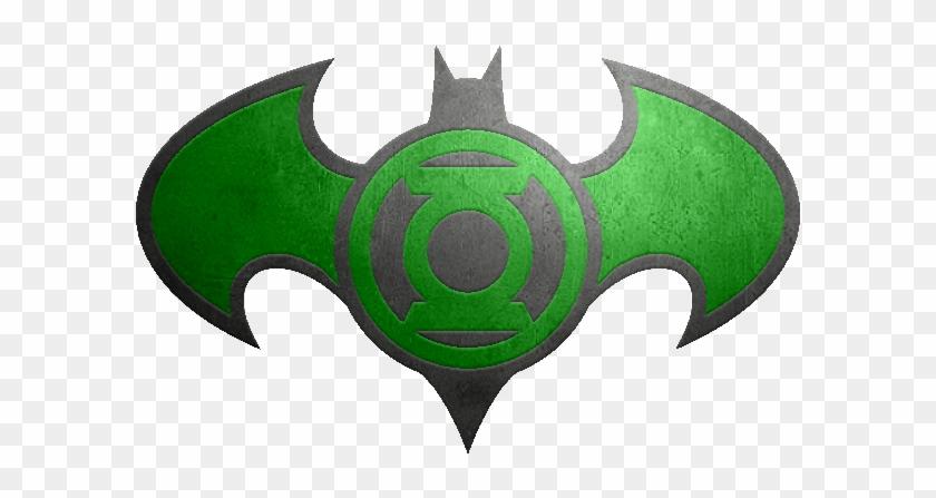 Batman Green Lantern Metalic Logo - Green Lantern Superman Batman Logo #1140896