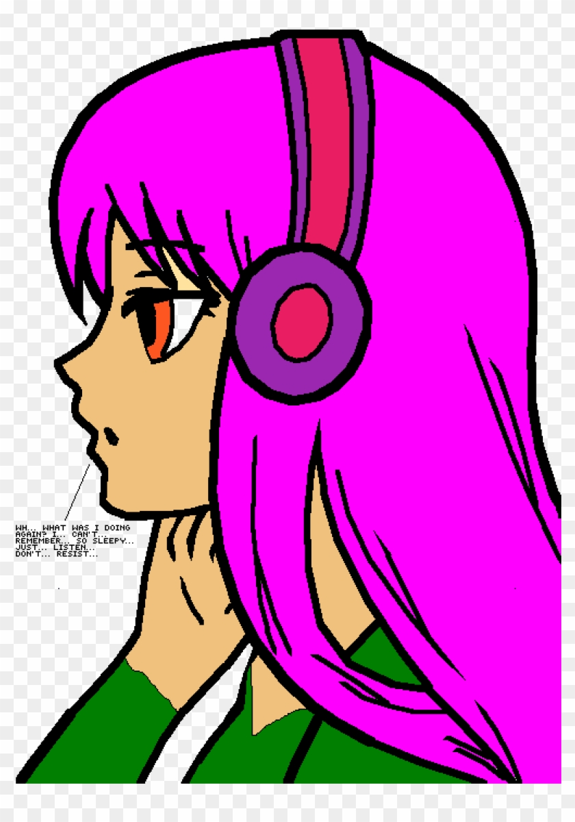 audio hypnosis anime girl art template free transparent png
