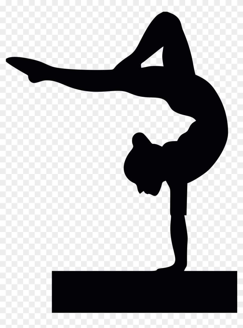 Gymnastics School Sport Cheerleading Tumbling - Gymnast Silhouette Clip Art #1141696