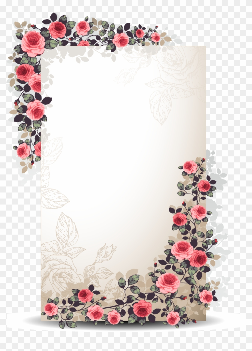 Flower Paper Euclidean Vector Floral Design - Flowers Borders Vector #1141888
