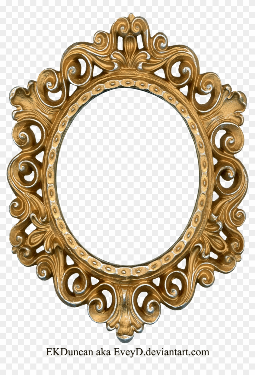 Free Fancy Frame Clip Art - Golden Frame Round #1142015