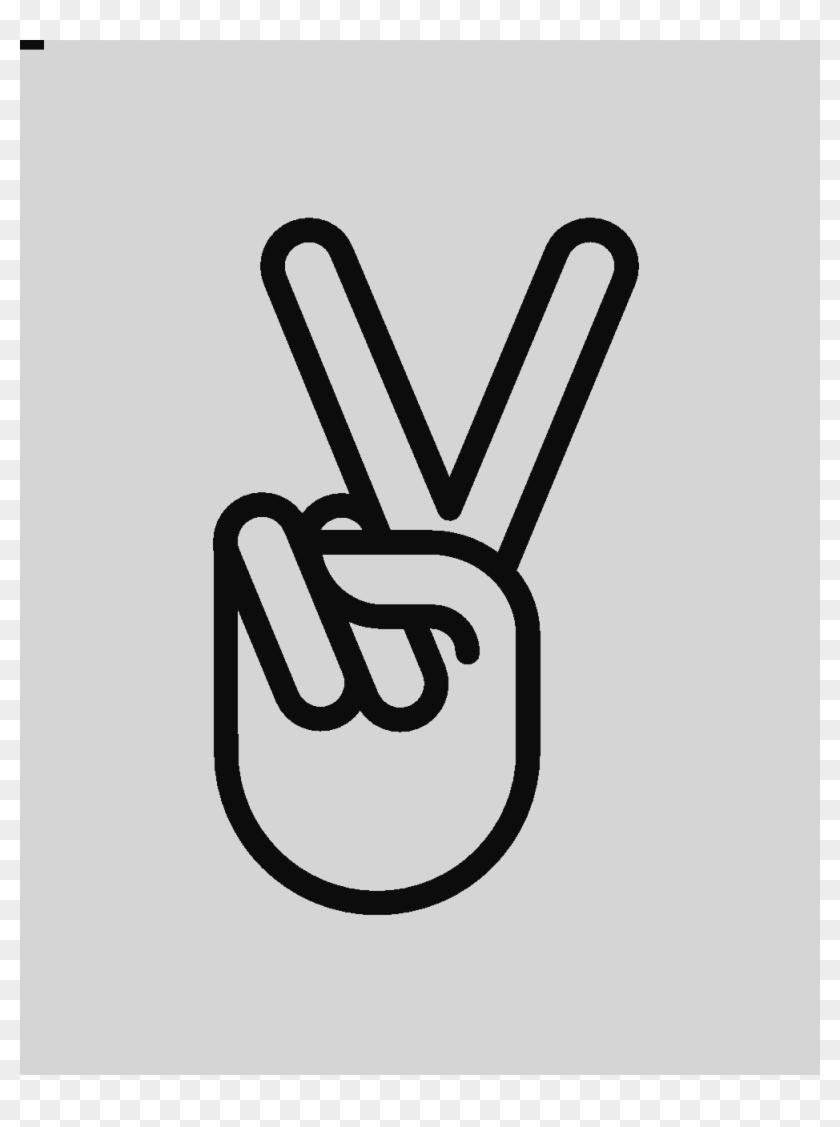 Peace Sign Hand Clipart #1142054