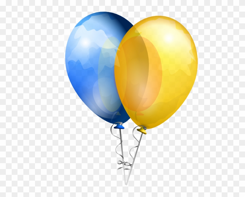 Blue And Yellow Balloons Png #1142131
