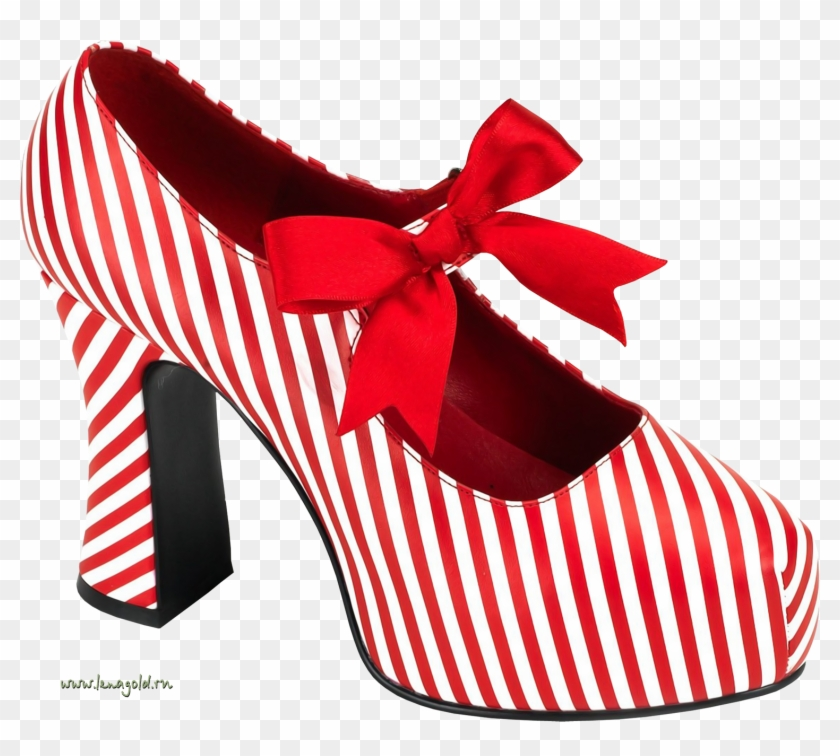 Heels Clipart Women's Clothing - Pleaser Candycane-48 Red/white Pu Size 12 #1142799