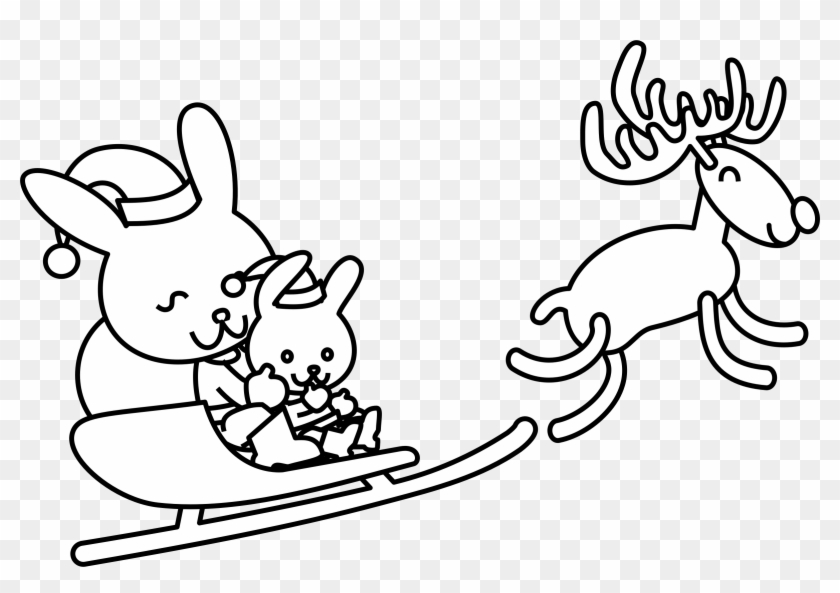 Christmas Present Cartoon Clipart - Christmas Bunny Coloring Pages ...