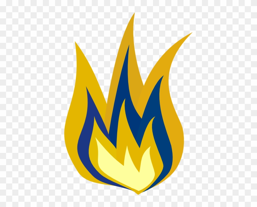 Blue And Yellow Flame Clip Art At Clker - Blue #189761