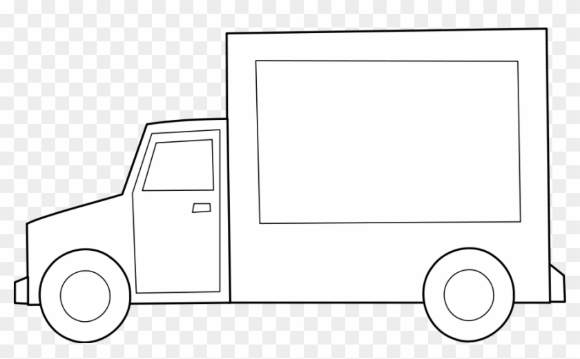 Truck Black And White Dump Truck Clipart Black And - Food Truck Clip Art Black And White #189819