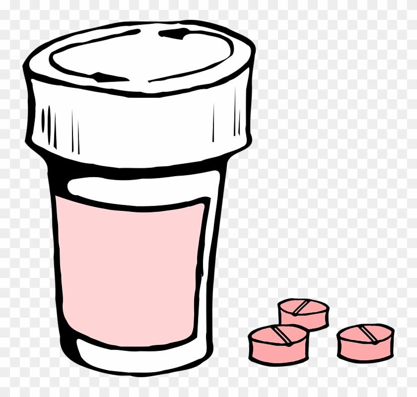 Drug Safety - Pill Bottle Clip Art #189844
