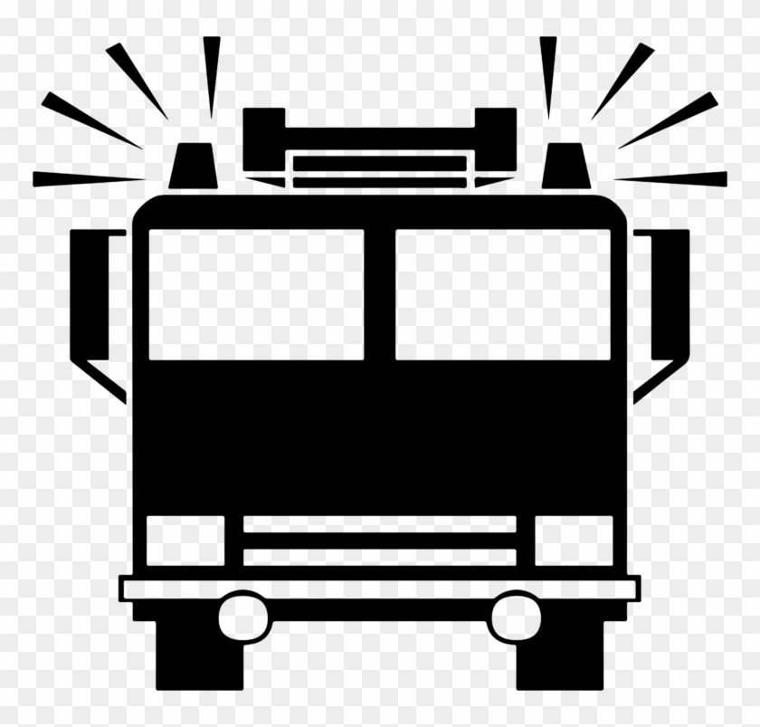 Truck Black And White Fire Truck Clipart Black And - Fire Truck Icon #189868