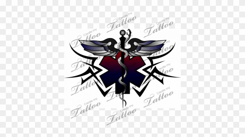 Ems Tattoo, I Would Definitely Consider This One - Medical Tribal Tattoo Designs #189996