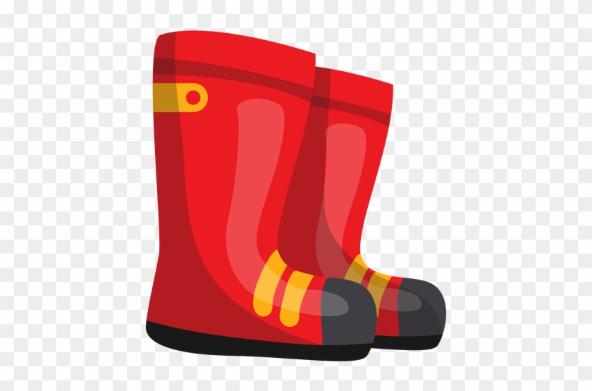 Firefighter Boots Illustration Transparent Png - Firefighter Boots Clipart #190005