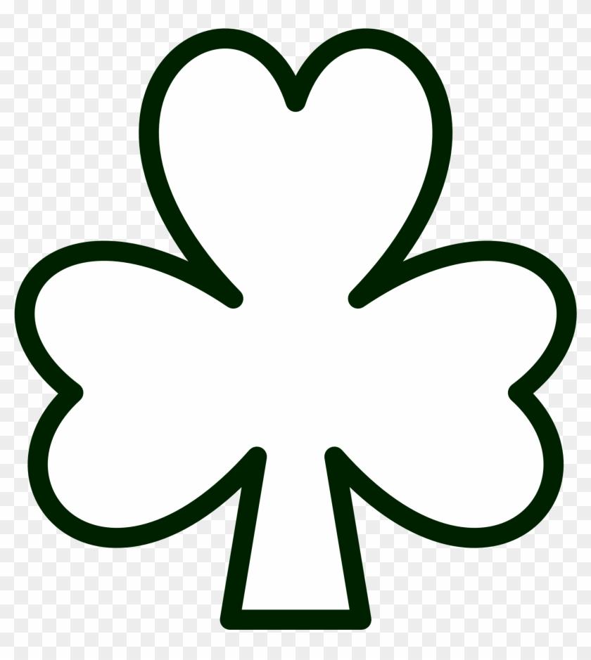 Tested Pics Of Shamrocks Public Domain Clip Art St - Shamrock Coloring Page #190014