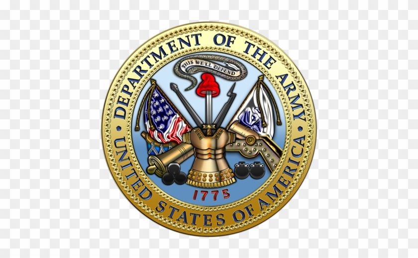 Military Insignia 3d - Seal Of The Army #190212