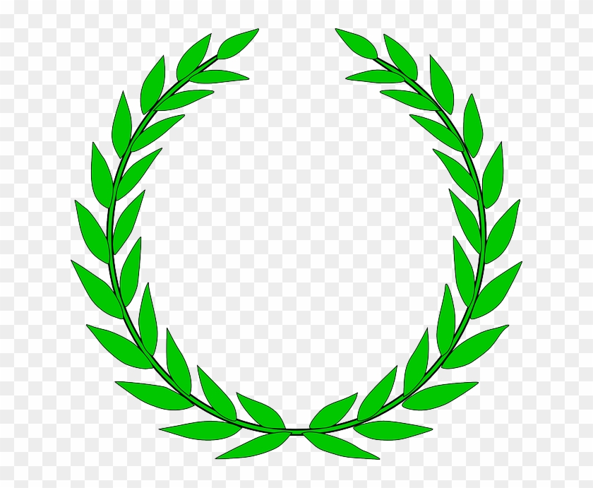 Drawing Black, Green, Icon, Wreath, Outline, Symbol, - Olive Branch Clip Art #190258