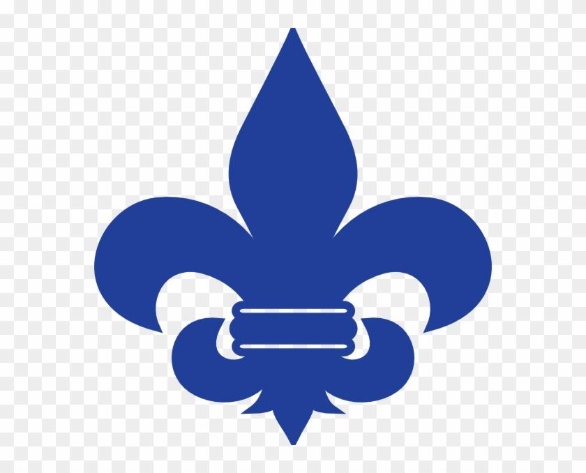 Blue Fleur De Lis Cub Scout Clip Art - St Joan Of Arc School Logo #190260