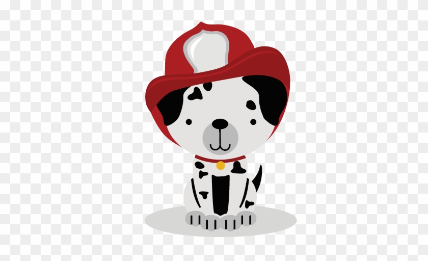 Firefighter Puppy Svg Cut File For Scrabpbooking Puppy - Baby Firefighter Clipart #190307