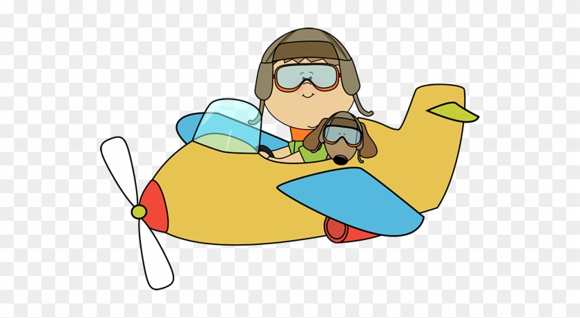Airplane Dog Cliparts - Fly A Plane Clipart #190373