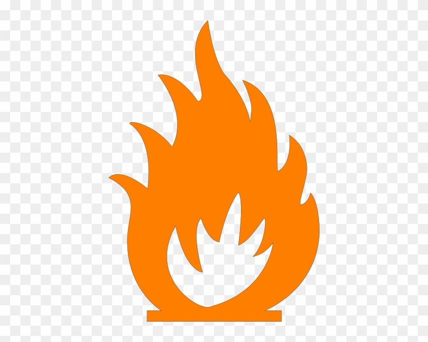 Orange Flames Clip Art At Clker - Fire Symbol #190475