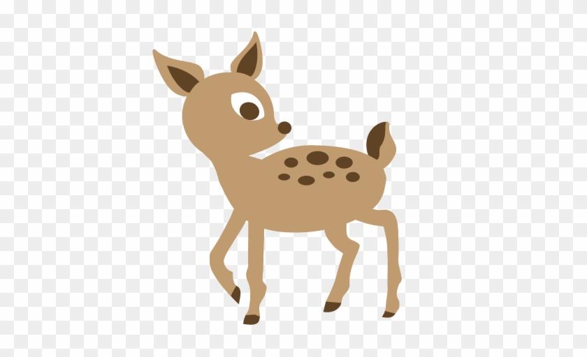Deer Svg Cut File For Scrapbooking Free Svgs Free Svg - Woodland Baby Deer Clipart #190492