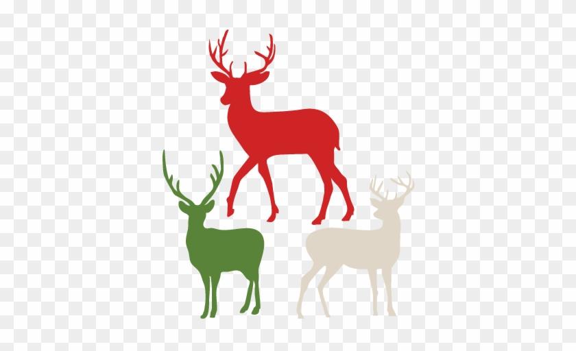 flying reindeer silhouette deer outline profile clip free reindeer