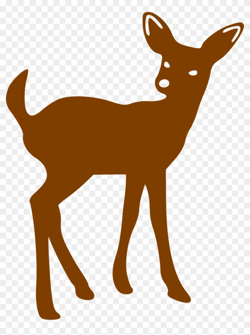 Bambi Clipart Doe - Animal Silhouette Patterns #190813