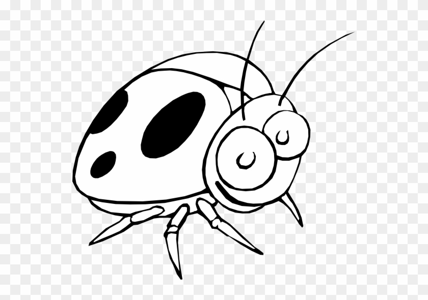 Ladybug Clipart Black And White - Ladybug Cartoon Black And White #190889