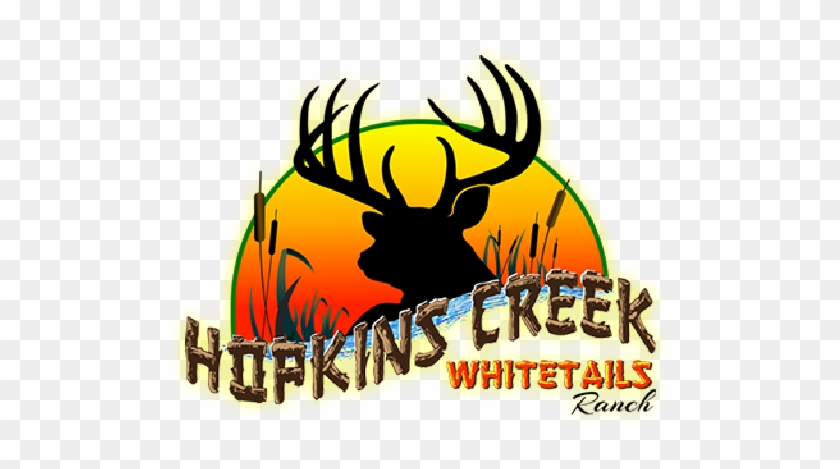 Michigan Whitetail Deer Hunting Lodge Hopkins Creek - Deer Decals #190907