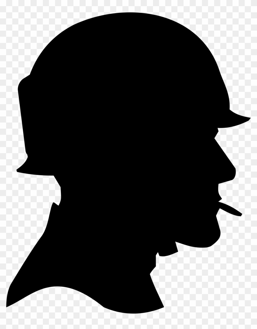 Memorial Day Writing Prompt For Students - Soldier Head Silhouette #190932
