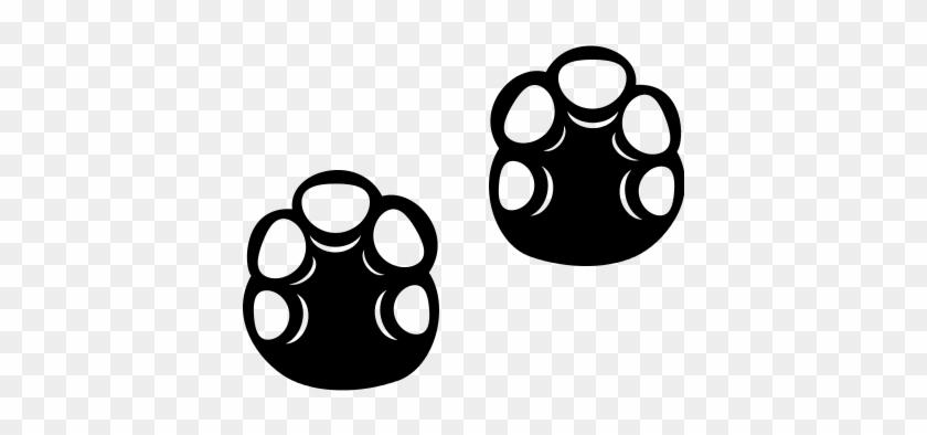 Hippopotamus Footprint Vector - Hippo Footprint #191167