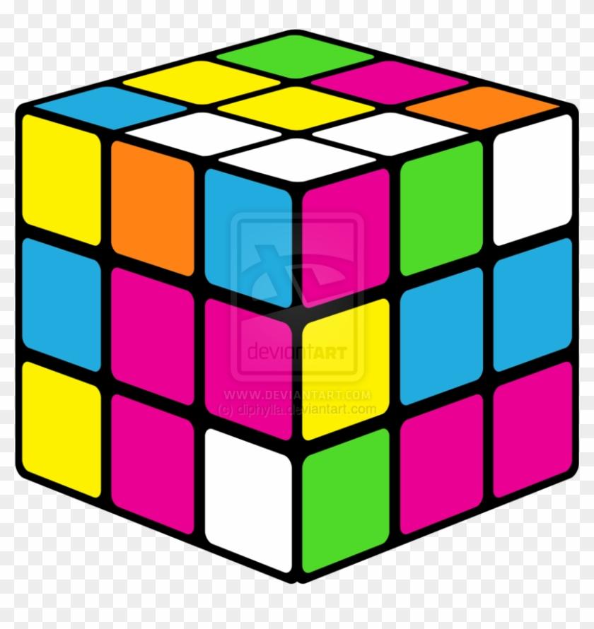 Neon Rubiks Cube Clipart - Rubix Cube Clip Art #191191