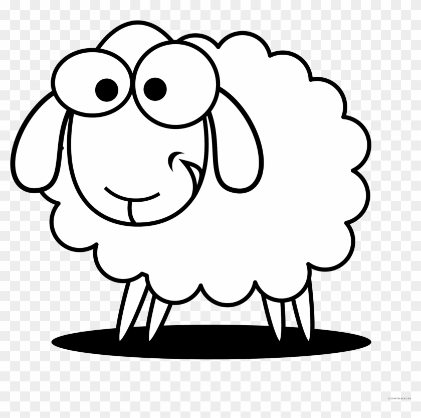Sheep Outline Animal Free Black White Clipart Images - Sheep Black And White #191345