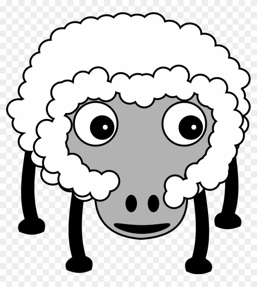 Funny Sheep Clipart, Vector Clip Art Online, Royalty - Farm Animals Cartoon No Background #191696