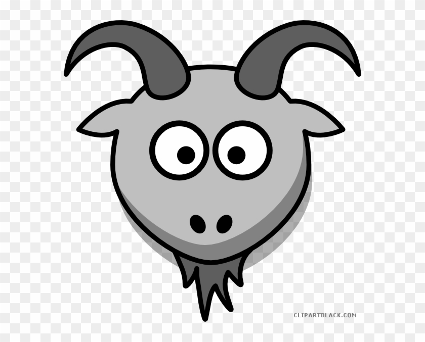 Cartoon Goat Animal Free Black White Clipart Images - Cartoon Goat Png #191750