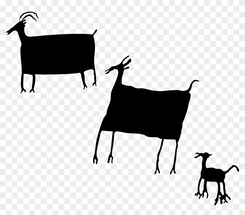 How To Set Use Rock Art Herd Animals Svg Vector - Cave Paintings Vector Png #191867