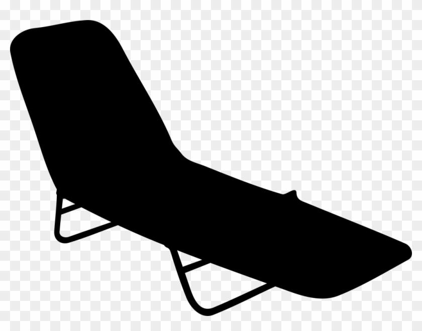 Furniture Beach Chair Elegant Outdoor Leisure Beach - Beach Chair Clip Art #191945