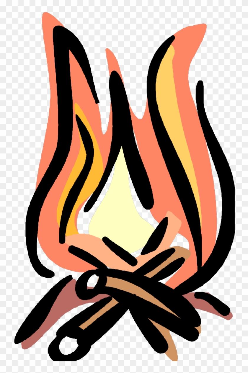 Bonfire Clipart Fireside - Bed And Breakfast Oval Sticker #192028